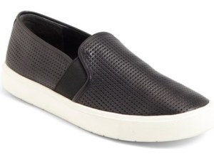 Vince 'Blair 5' Slip-On Sneaker (Women) Perforated Black Leather slip-on sneakers fall 2016