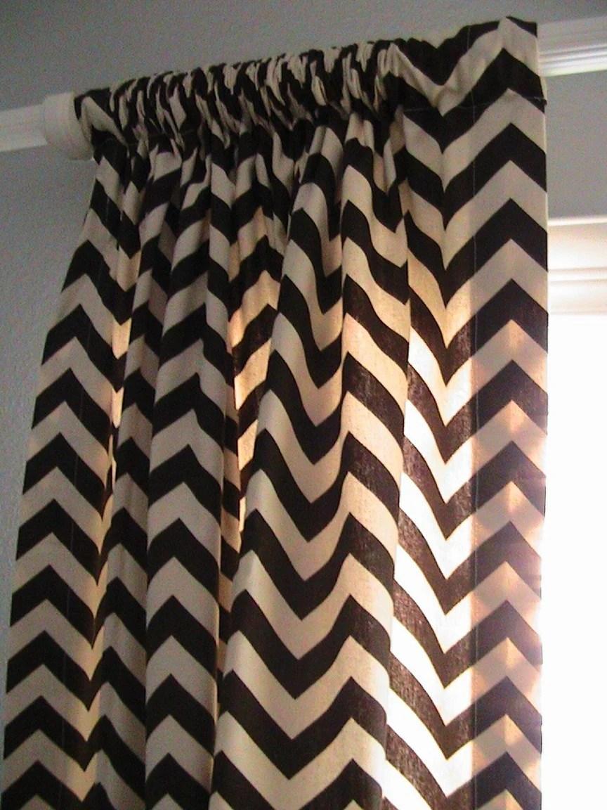 Found chevron amp trellis print curtains courtesy of nena von etsy