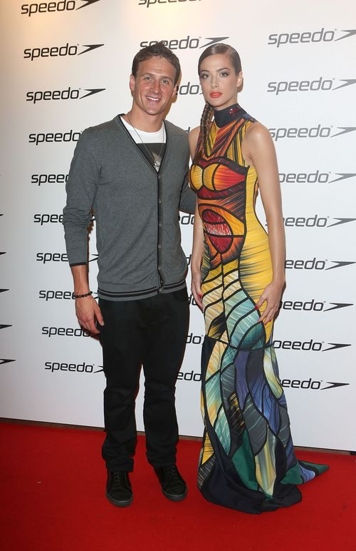 6a01127964c54a28a401774400a441970d 500wi Celebrity Images: Ryan Lochte, Michael Phelps and Girlfriend Megan Rossee, and Team USA Olympians Attend Speedo Celebration Event!