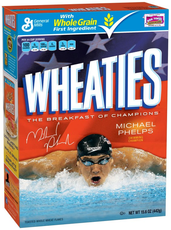 1495062 Michael Phelps 3D1 760x1024 Images + Video: Olympic Gold Medalists Michael Phelps & Misty May Traenor Limited Edition Wheaties Boxes Unveiled!