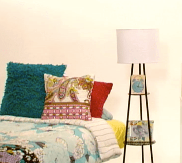 LAMP DOUBLES AS A NIGHTSTAND  Interview: HGTVs Sabrina Soto Shares Back to College Decor Tips!