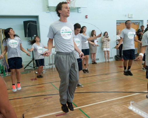 pggiveeducation11 1024x816 Actor Matthew McConaughey helps launch P&Gs 2nd Annual GIVE Education Campaign