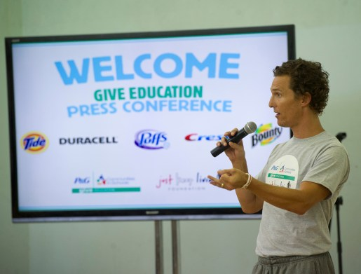 pggiveeducation13 1024x776 Actor Matthew McConaughey helps launch P&Gs 2nd Annual GIVE Education Campaign
