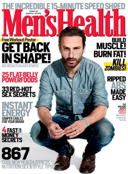 Mens Health October cover Celeb Images: AMCs The Walking Dead Star Andrew Lincoln Covers Mens Health in October