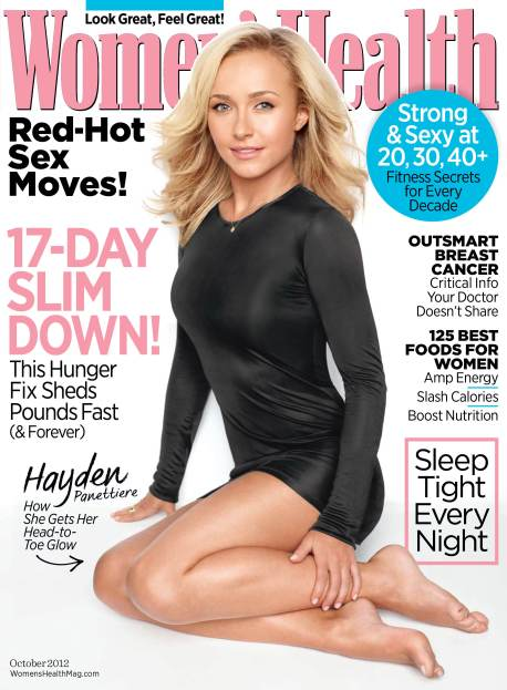 Womens Health Oct 2012 Hayden Panettiere 753x1024 Celeb Image: Actress Hayden Panettiere Stars in ABCs Nashville and Covers Womens Health in October!