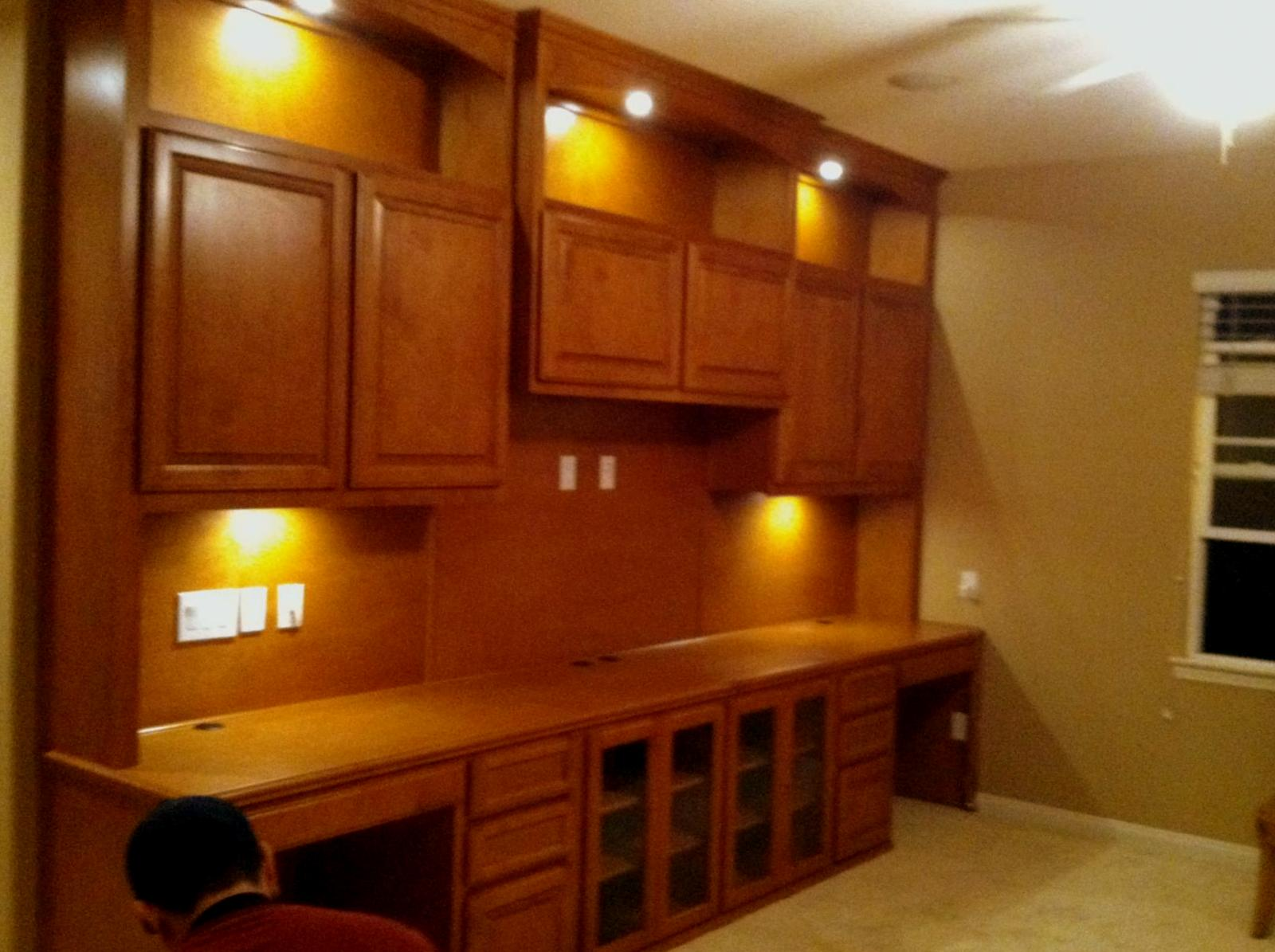 Built In Office Desk And Cabinets Built In Home Office Desk With Dual Workstations Salemhomewoodcom