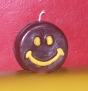 happy face candle mold