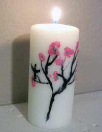 batiked candle