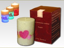 cupid color changing candle