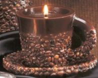 coffee cup candle