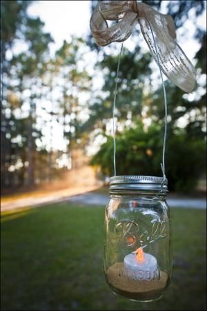 Hanging votive jar diy candle making for Diy hanging tea light candle holders
