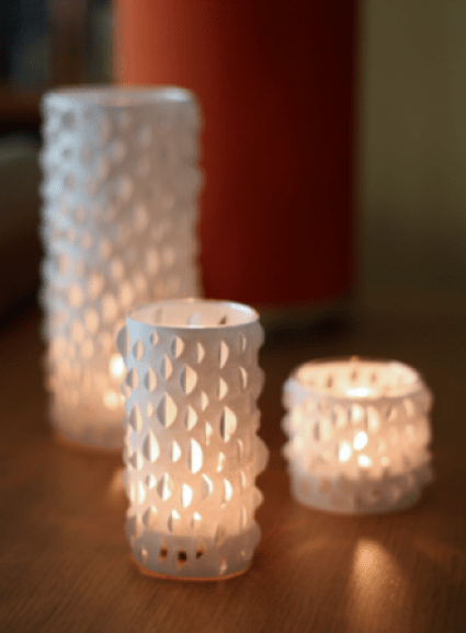 cut paper candle holder candle making