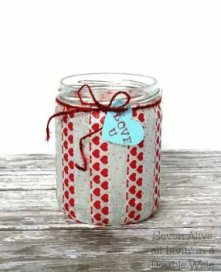 Washi Tape Votive @ Craft Gossip