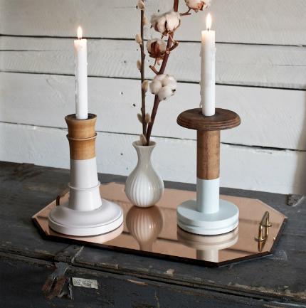 Dip Dye Candle Sticks @ Craft Gossip