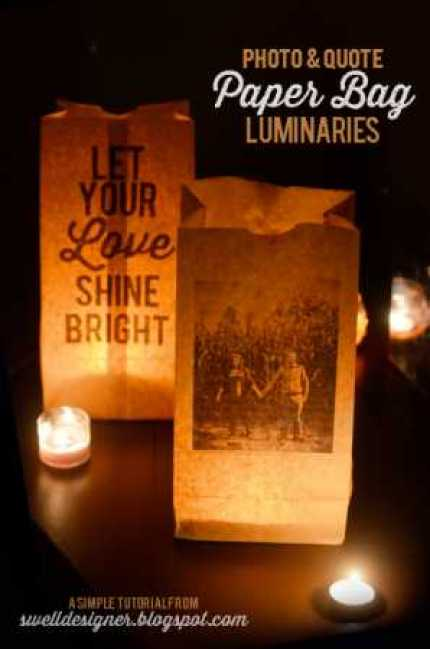 Paper Bag Quote Luminaries @ Craft Gossip