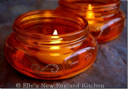 Dyed Mason Jar Candle Holders @ Craft Gossip
