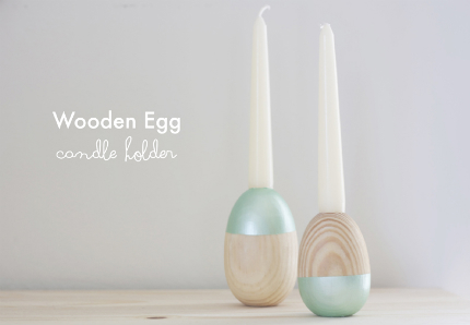 Wooden Egg Candle Holder