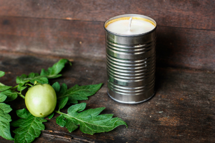 Tomato Vine Tin Candle