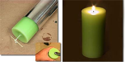 Making Basic Pillar Candles