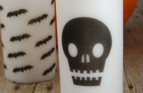 Halloween Printed Candles With Free Printable
