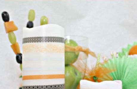 Halloween Washi Tape Candles