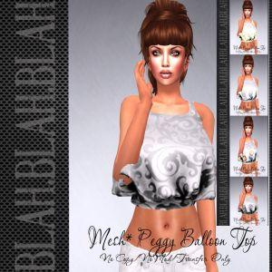 blah.BLAH.blah GATCHA Peggy Balloon  Tops- 5 Styles and Fatpack