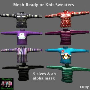 DD Mesh Ready or Knit Sweaters for Gacha