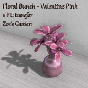 Floral Bunch - Valentine Pink AD