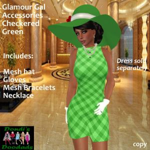 DD Glamour Gal Accessories for Checkered Green