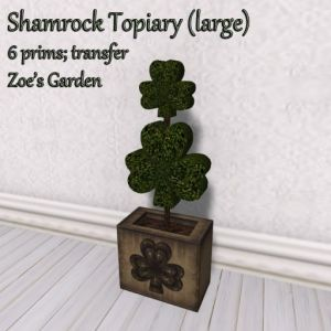 Shamrock Topiary (large) AD
