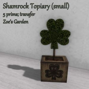 Shamrock Topiary (small) AD