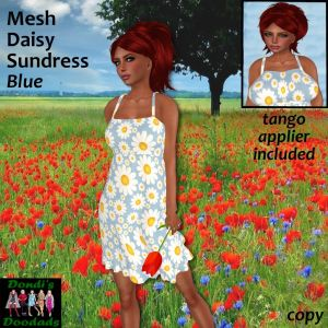 DD Mesh Daisy Sundress Blue