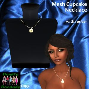DD Mesh Cupcake Necklace