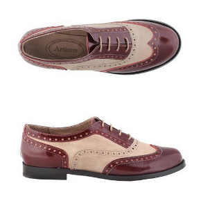 A pair of handmade leather shoes at Artizen