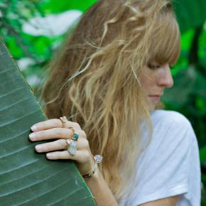 Model wearing Cleopatra's Bling's rings