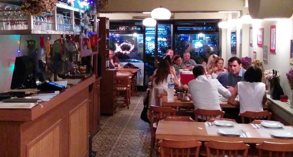 Inside Sidika restaurant Beşiktaş