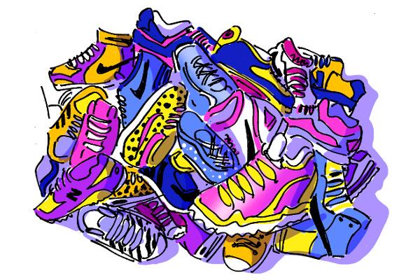 Farklı marka'dan koşu ayakkabısı