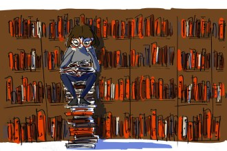 Girl reading at the Vitali Hakko Creative Industries Library