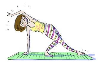 Girl doing yoga at MindBody Festival in Istanbul