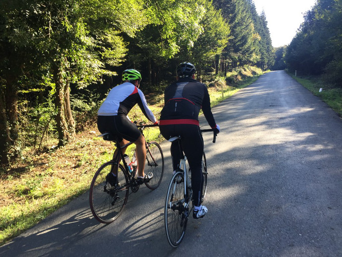 Belgrad Ormanı'nda bisiklet