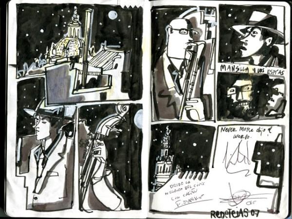 CIBASS Mansilla y los espías dibujados por Inma Serrano durante Redetejas vol07