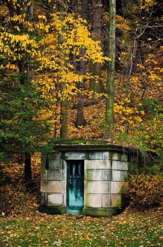 Mausoleum at Lake View Cemetery, photo by Barney Taxel