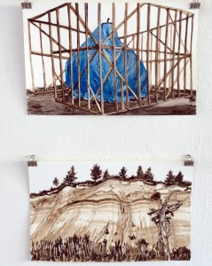 Works of Amy Casey, installation view, photo by Douglas Max Utter