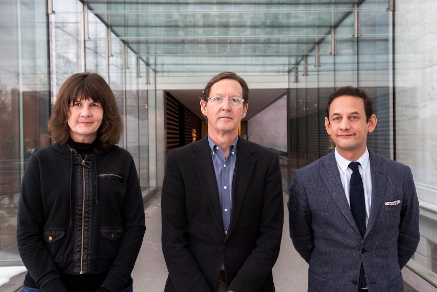 The FRONT Triennial Team (Left to Right: Michelle Grabner, Fred Bidwell, Jens Hoffman