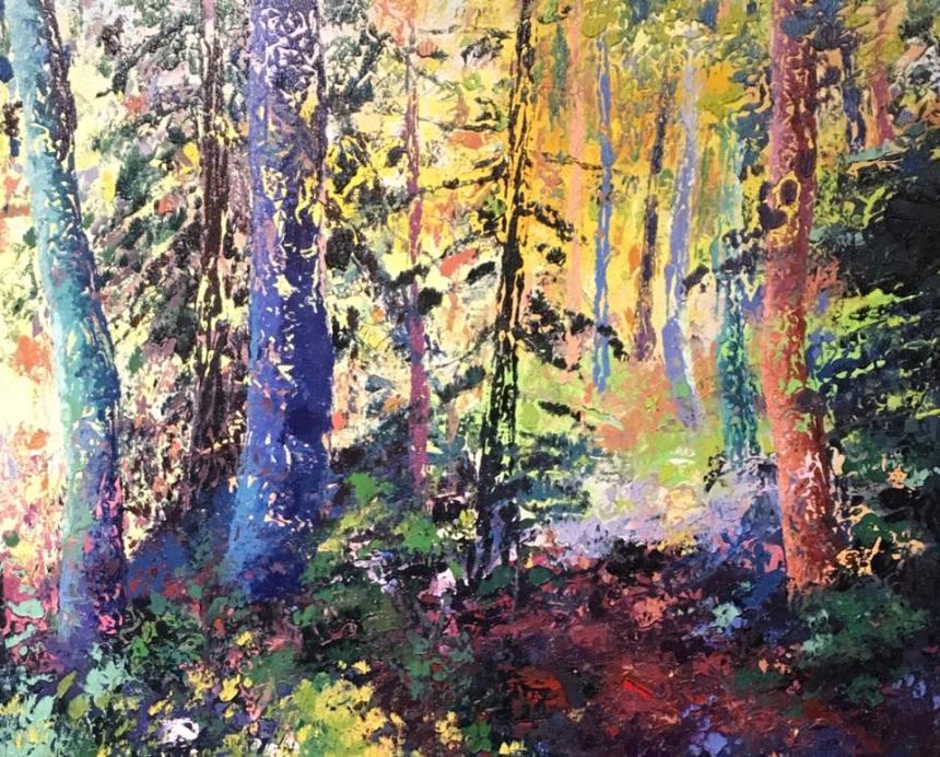 Soft Light, Eileen Dorsey, oil and acrylic on canvas