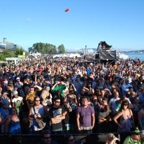 The Seattle Hempfest main stage crowd enjoying Everlast.
