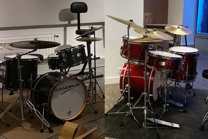 Canopus drums now at the fine school in France!