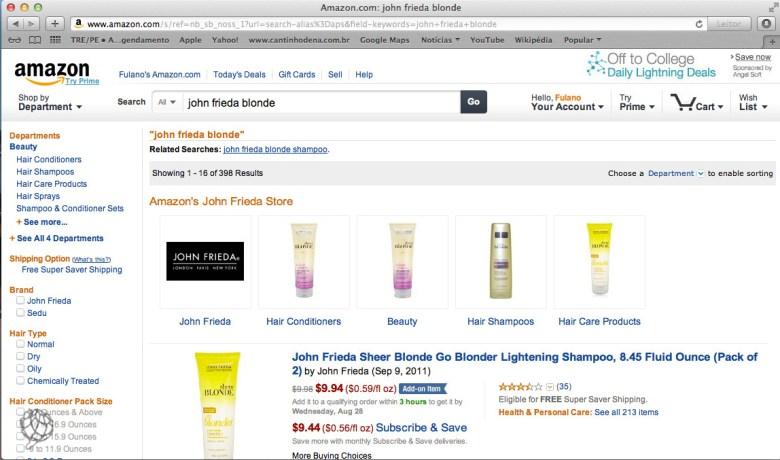 tela Amazon John Frieda 1