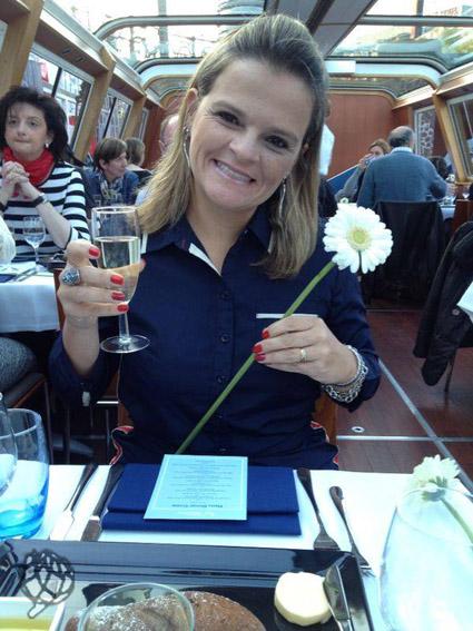 jantar no barcom em Amsterdam Ju