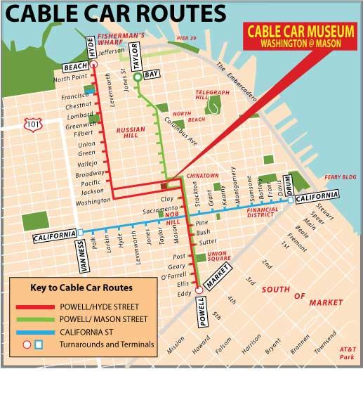 Bondinho cable car mapa